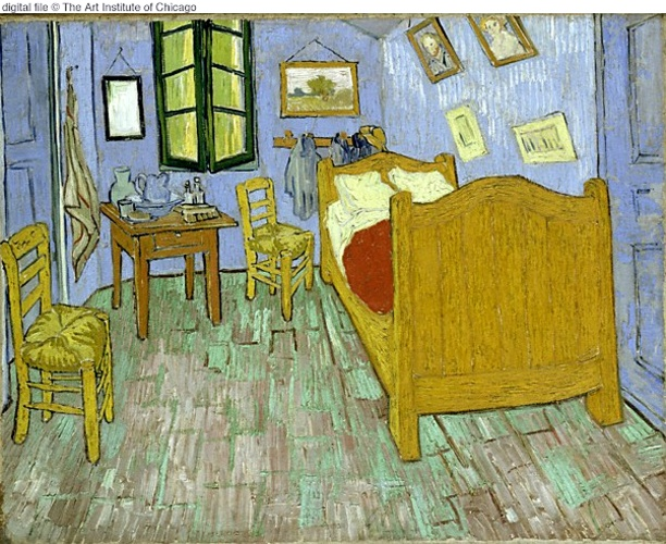 famous painting Bedroom, The of Vincent Van Gogh