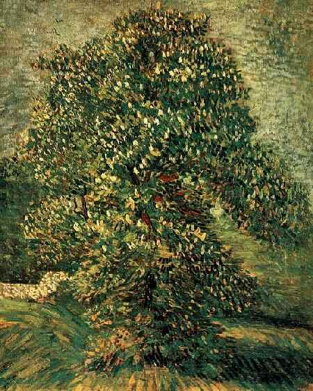 famous painting Chestnut Tree in Blossom 3 of Vincent Van Gogh