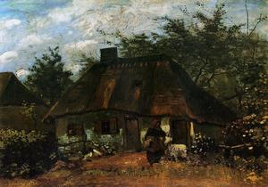 Vincent Van Gogh - Cottage and Woman with Goat