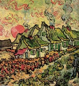 Vincent Van Gogh - Cottages Reminiscence of the North