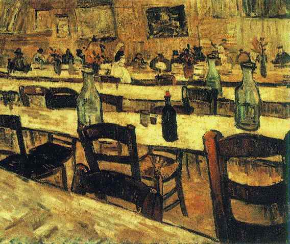 famous painting Interior of a Restaurant in Arles of Vincent Van Gogh