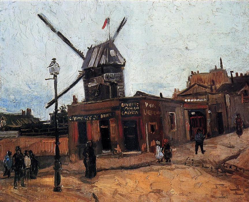 famous painting Le Moulin de la Galette of Vincent Van Gogh