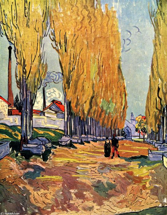 Order Museum Quality Copies | Les Alyscamps by Vincent Van Gogh | Most-Famous-Paintings.com