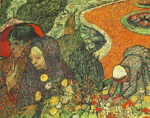 Order Paintings Reproductions | Memory of the Garden at Etten by Vincent Van Gogh | Most-Famous-Paintings.com
