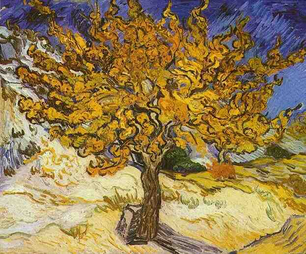 famous painting Mulberry Tree, The of Vincent Van Gogh