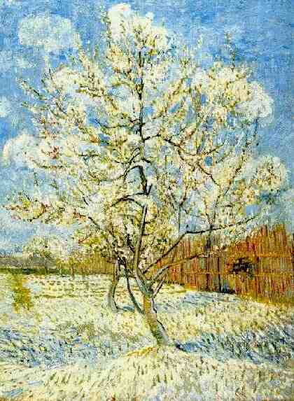famous painting Peach Tree in Blossom of Vincent Van Gogh