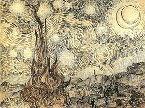 Vincent Van Gogh - Starry Night drawing