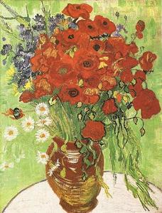 Vincent Van Gogh - Still Life Red Poppies and Daisies