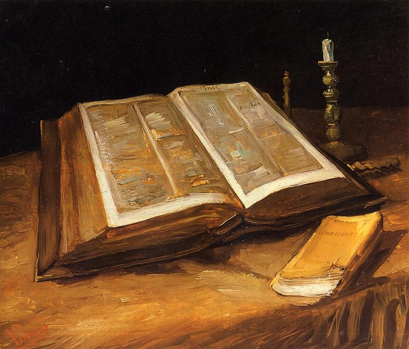 famous painting Still Life with Bible of Vincent Van Gogh