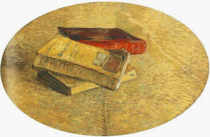 famous painting Still Life with Three Books of Vincent Van Gogh
