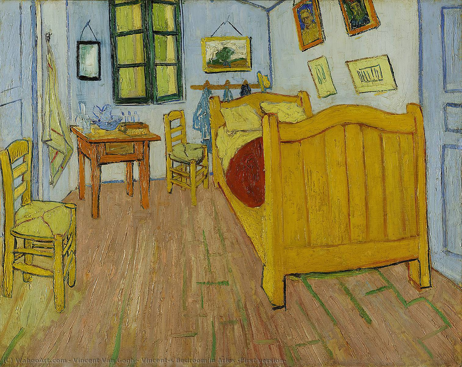 Order Museum Quality Copies | Vincent's Bedroom in Arles (First version) by Vincent Van Gogh | Most-Famous-Paintings.com