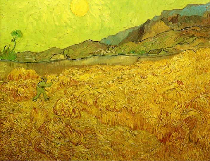 an analysis of the painting wheat field with cypresses by vincent van gogh