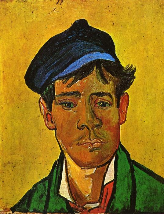 famous painting Young Man with a Cap of Vincent Van Gogh