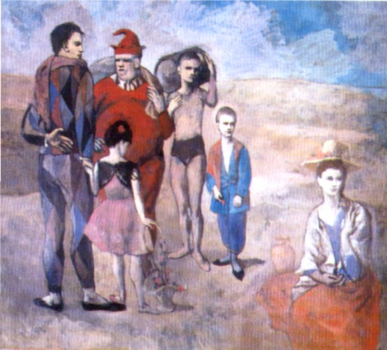 famous painting Saltimbanques (The Family of Saltimbanques) of Pablo Picasso
