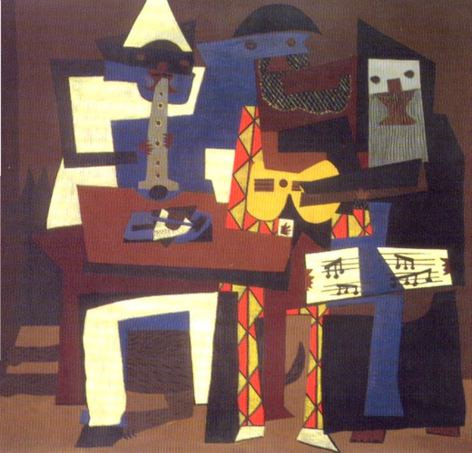 famous painting The Three Musicians of Pablo Picasso