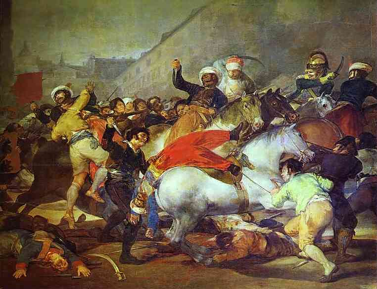 Order Museum Quality Copies | The Second of May, 1808 at the Puerta del Sol by Francisco De Goya | Most-Famous-Paintings.com