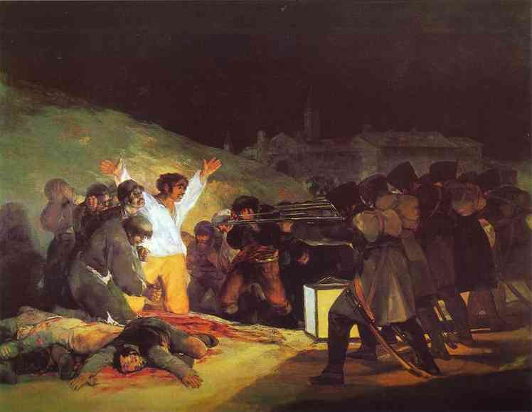 Order Art Reproductions : The Third of May, 1808 The Execution of the Defenders of Madrid by Francisco De Goya | Most-Famous-Paintings.com