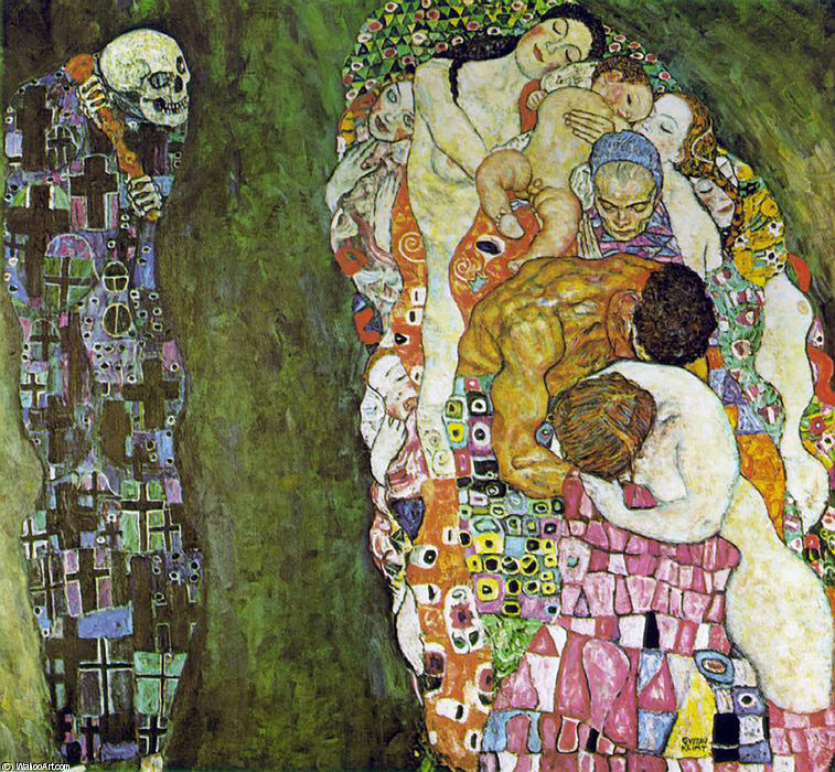 Order Art Reproductions | Death and Life by Gustav Klimt | Most-Famous-Paintings.com