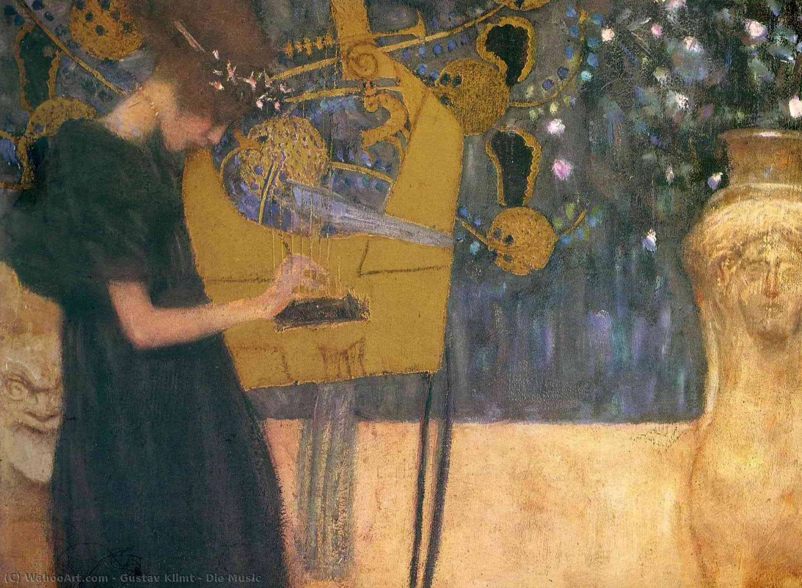 famous painting Die Music of Gustav Klimt