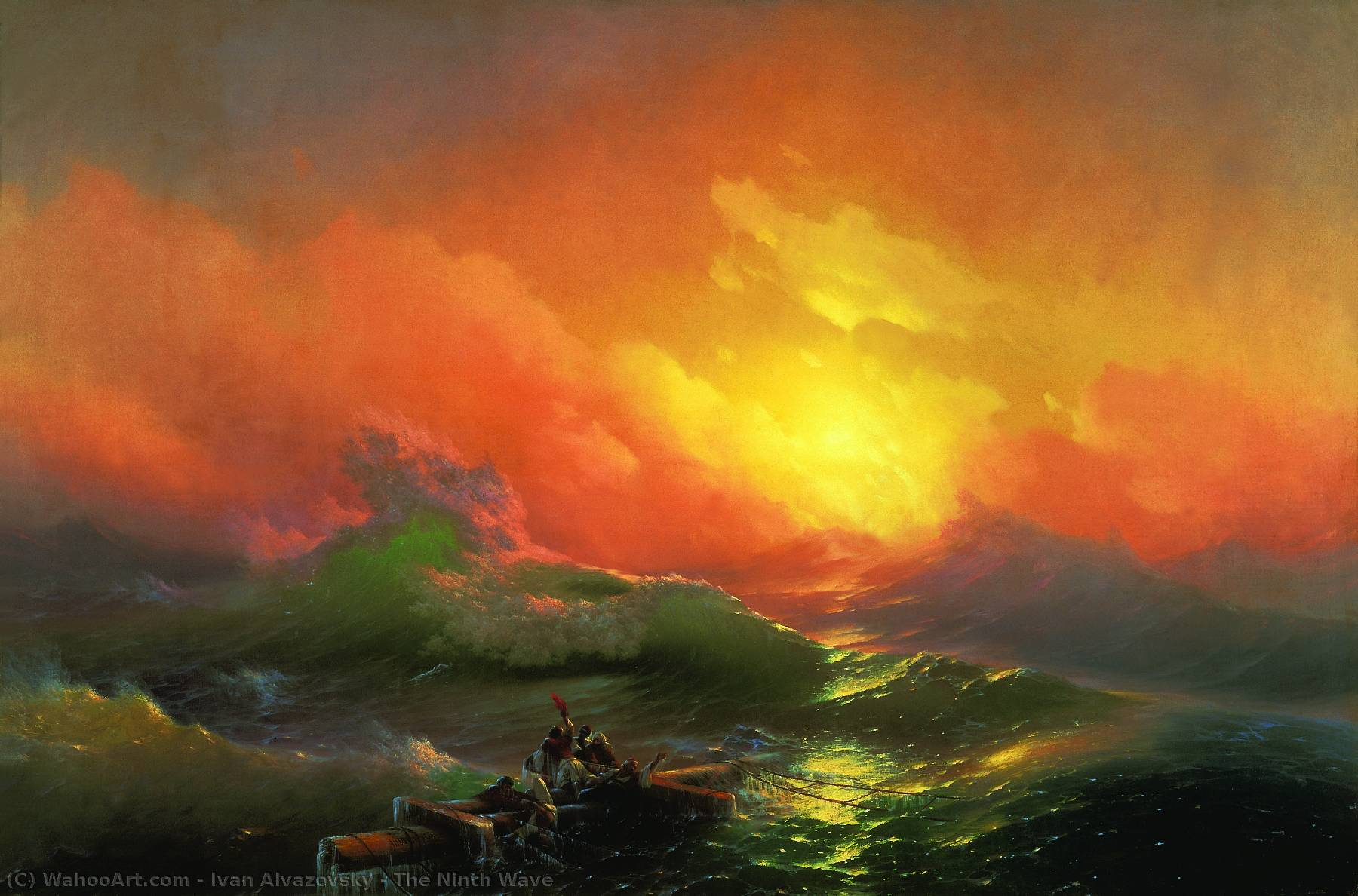 famous painting The Ninth Wave of Ivan Aivazovsky