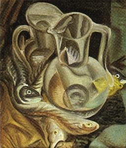 André Aimé René Masson - Carafe and fish
