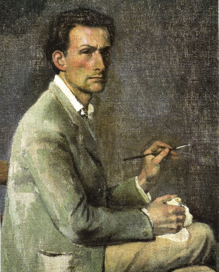 famous painting Self-Portrait (detail) of Balthus (Balthasar Klossowski)