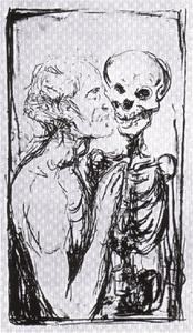 Edvard Munch - Self-Portrait, Dance of Death
