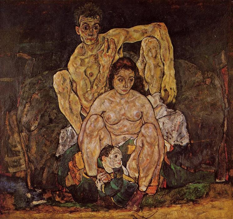 Order Art Reproductions | The Family by Egon Schiele | Most-Famous-Paintings.com