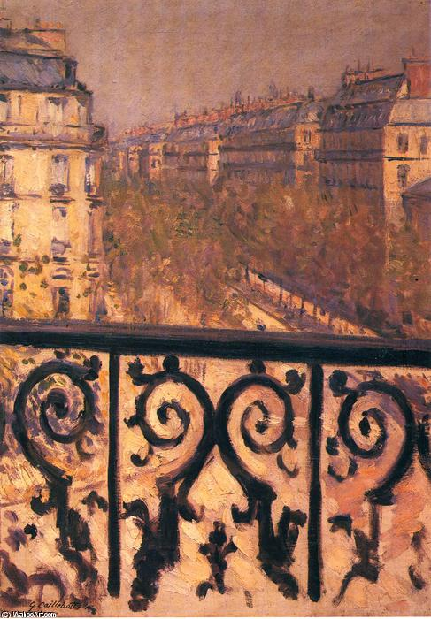 Order Museum Quality Copies | A Balcony in Paris by Gustave Caillebotte | Most-Famous-Paintings.com