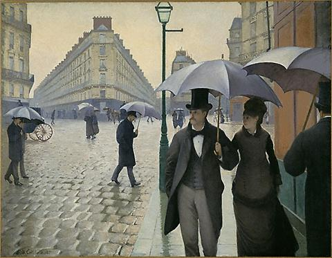 Buy Museum Art Reproductions | Paris street, Rainy Day by Gustave Caillebotte | Most-Famous-Paintings.com