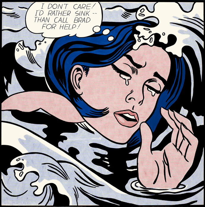famous painting Drowning girl of Roy Lichtenstein