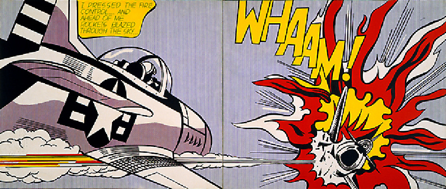 famous painting Wham of Roy Lichtenstein