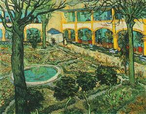Vincent Van Gogh - Courtyard of the Hospital at Arles, The