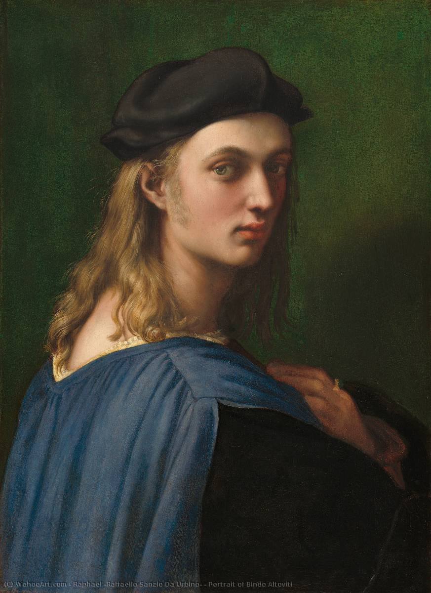 Order Reproductions | Portrait of Bindo Altoviti by Raphael (Raffaello Sanzio Da Urbino) | Most-Famous-Paintings.com