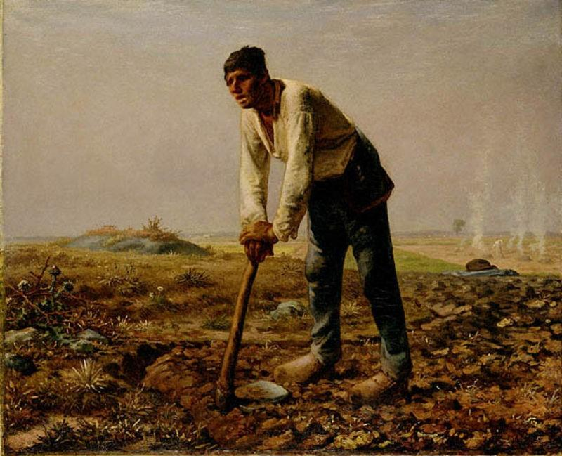 famous painting Man With A Hoe of Jean-François Millet
