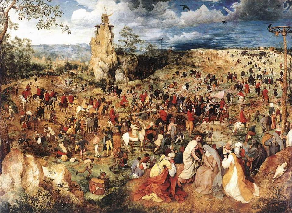 famous painting Christ Carrying the Cross of Pieter Bruegel The Elder