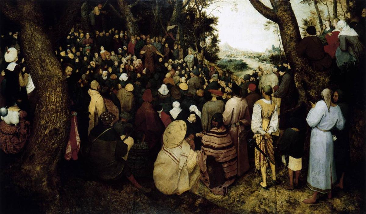 Order Reproductions | The Sermon of St. John the Baptist by Pieter Bruegel The Elder | Most-Famous-Paintings.com