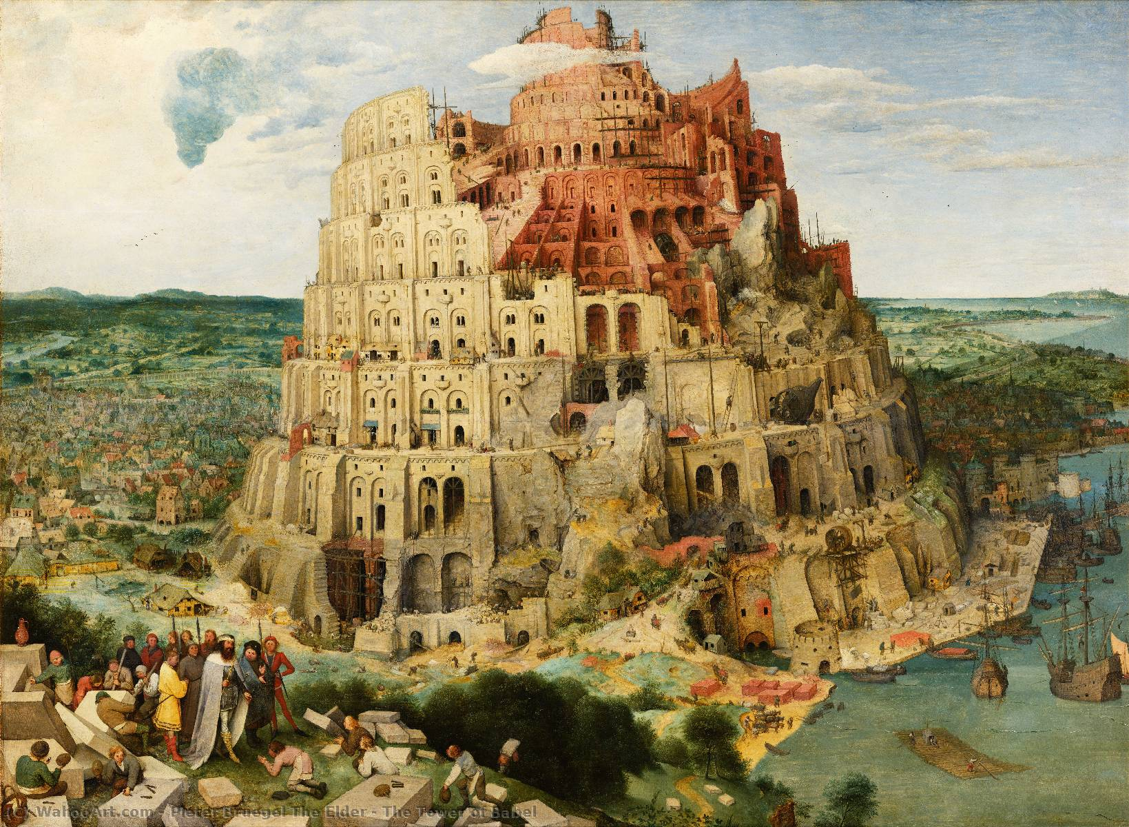 famous painting The Tower of Babel of Pieter Bruegel The Elder