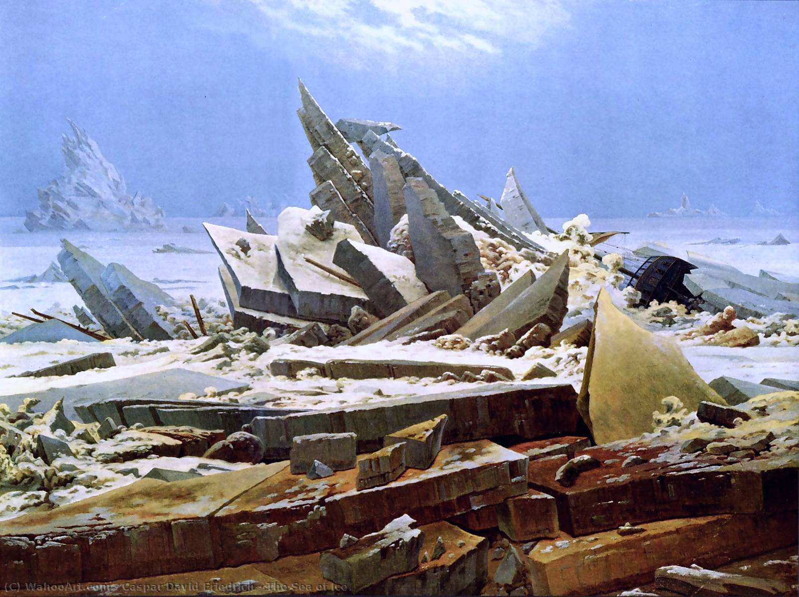 Order Museum Quality Copies | The Sea of Ice by Caspar David Friedrich | Most-Famous-Paintings.com