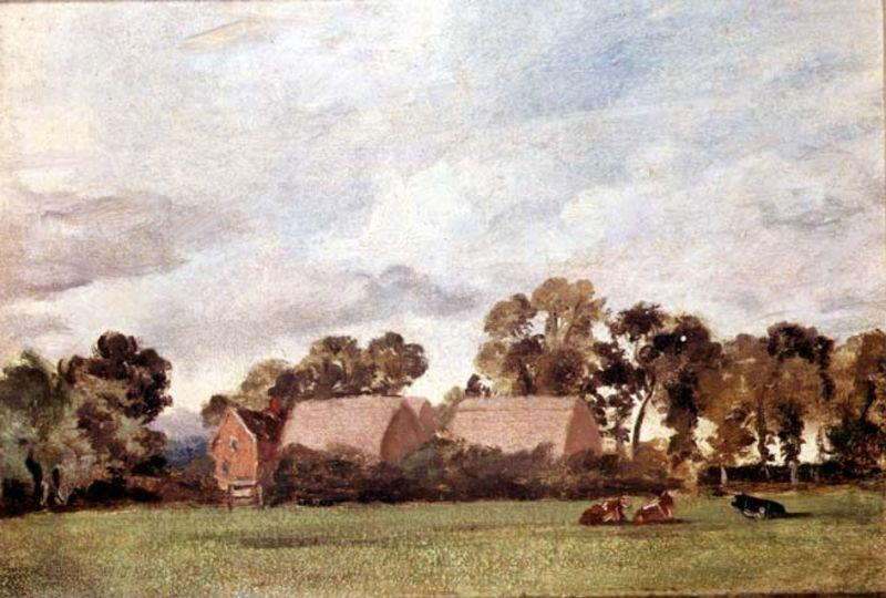 famous painting A Suffolk Landscape of John Constable