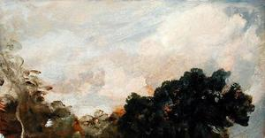 John Constable - Cloud Study with Trees