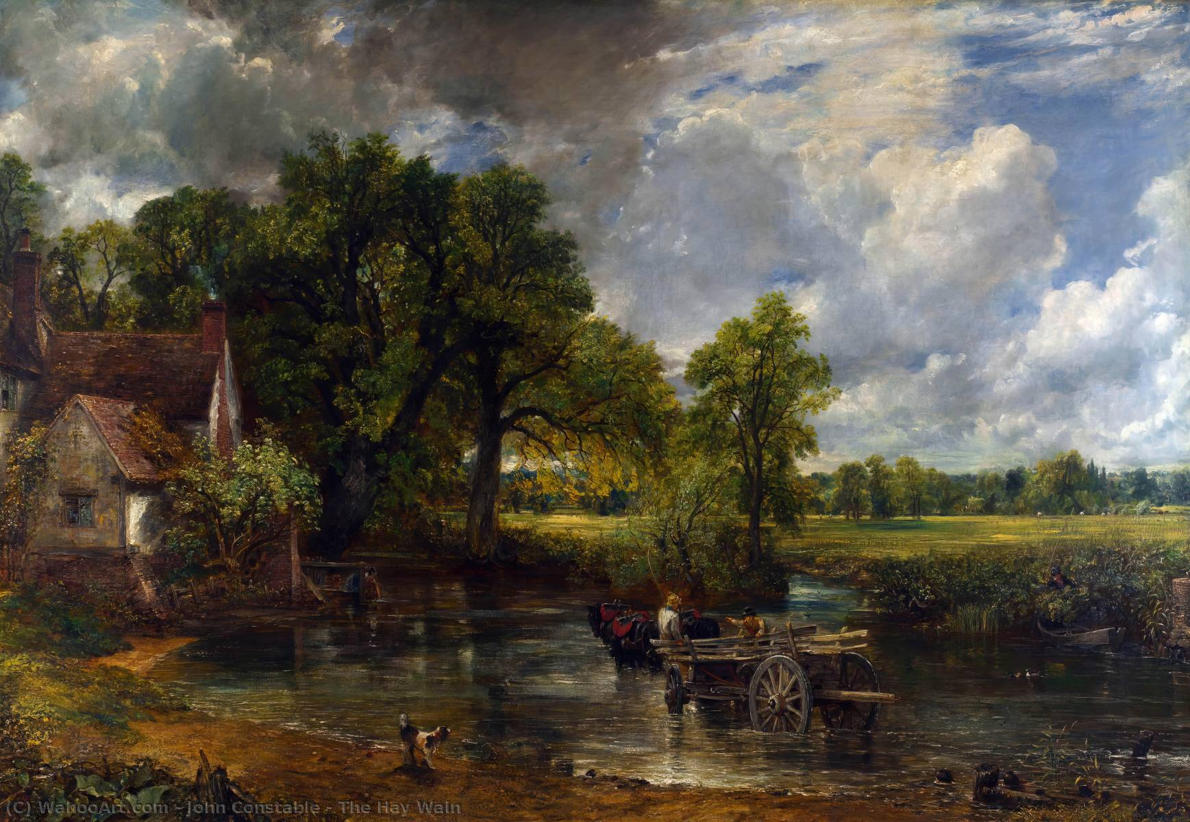 famous painting The Hay Wain of John Constable
