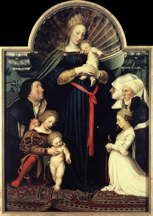 Buy Museum Art Reproductions : Darmstadt Madonna by Hans Holbein The Younger | Most-Famous-Paintings.com