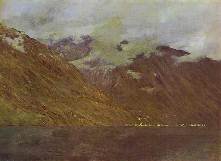 famous painting Lake Como of Isaak Ilyich Levitan