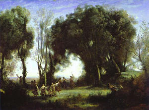 Jean Baptiste Camille Corot - A Morning. Dance of the Nymphs