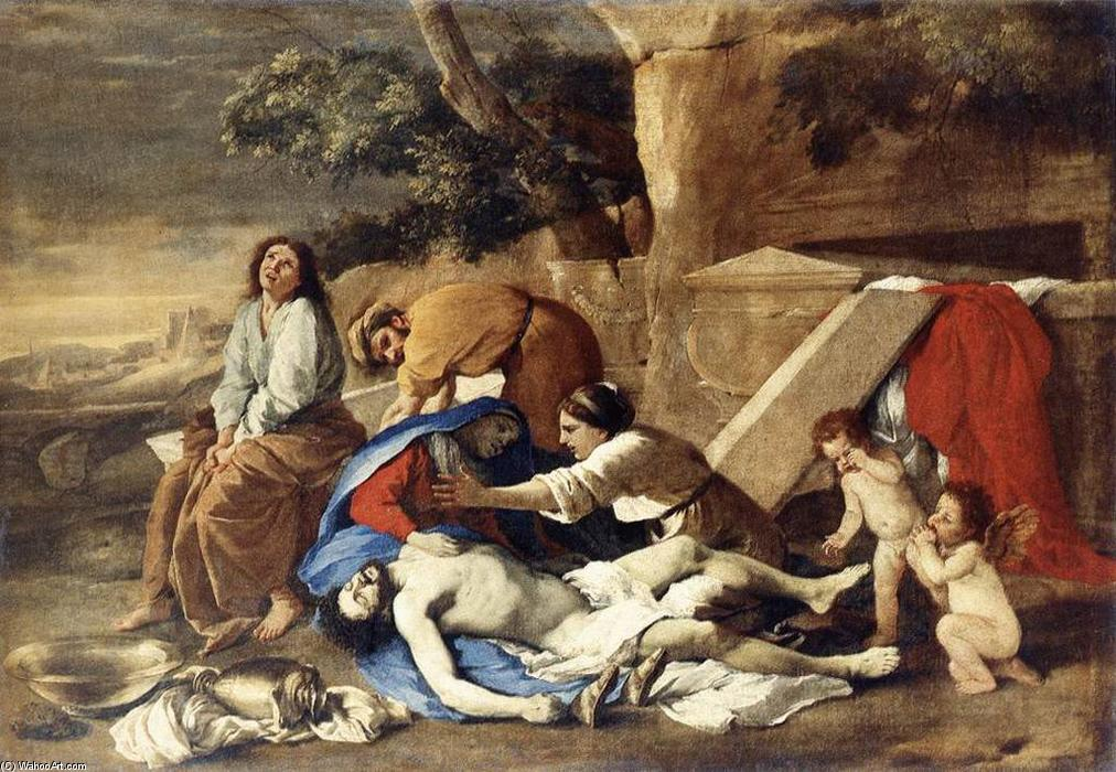 famous painting Lamentation over the Body of Christ of Nicolas Poussin