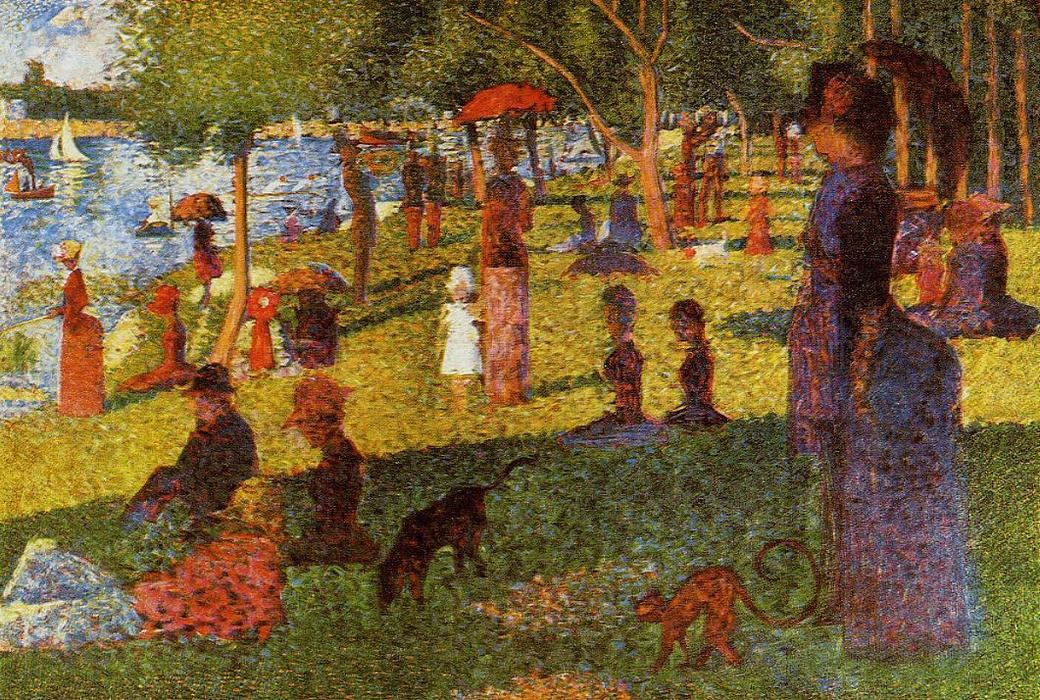 famous painting An Afternoon at La Grande Jatte of Paul Signac