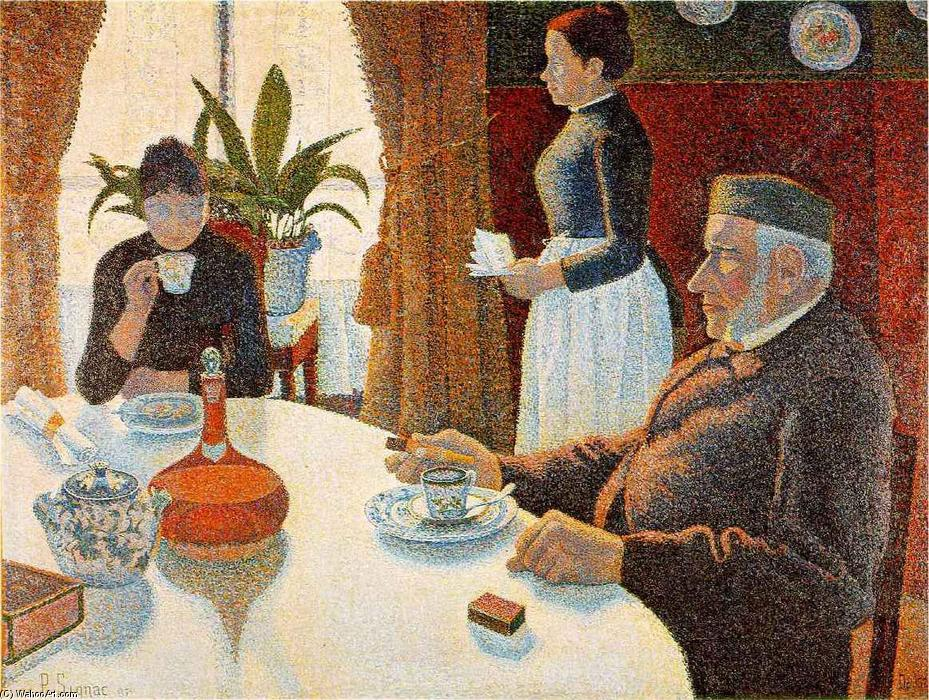 Buy Museum Art Reproductions : Breakfast (The Dining Room) by Paul Signac | Most-Famous-Paintings.com
