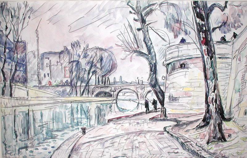 famous painting Paris - River Scene of Paul Signac