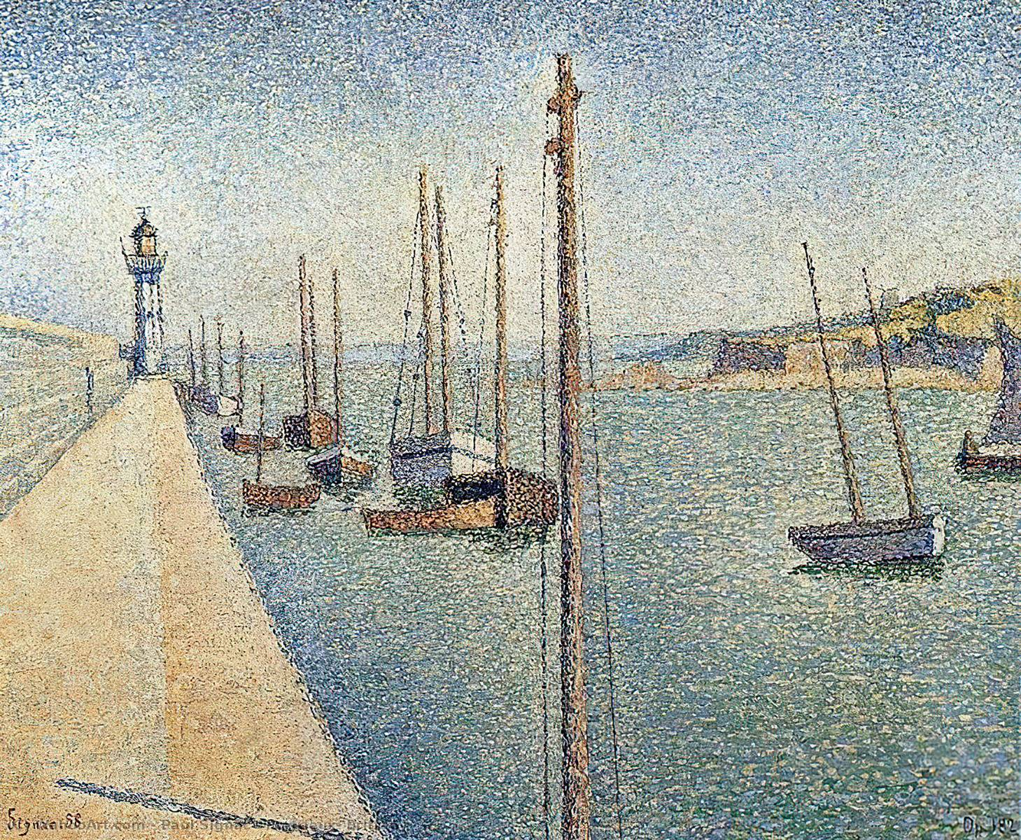 Order Paintings Reproductions | Portrieux, Brittany by Paul Signac | Most-Famous-Paintings.com